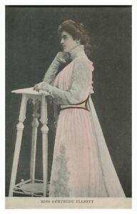 Antique printed postcard Miss Gertrude Elliott actress theatre stage