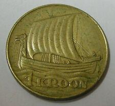 Estonia Eesti 1 kroon 1934 wikingerschiff