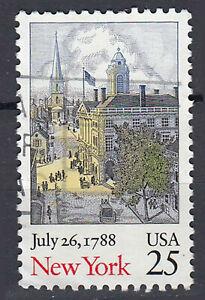 USA-Briefmarke-gestempelt-25c-July-26-1788-New-York-203