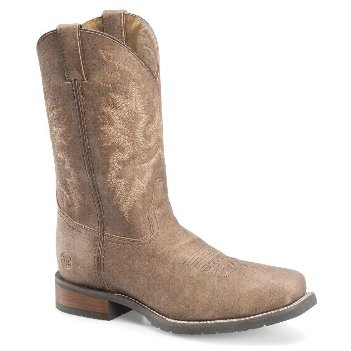 Double-H Men's Wide Square Toe 11  Brown Work Western Boots DH7000