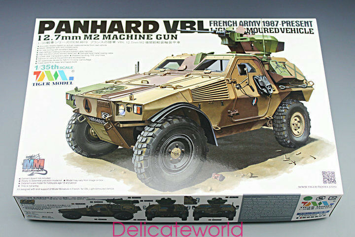 Tiger Model 4619  1 35 French Army PANHARD VBL 12.7mm M2 MG Armored Vehicle