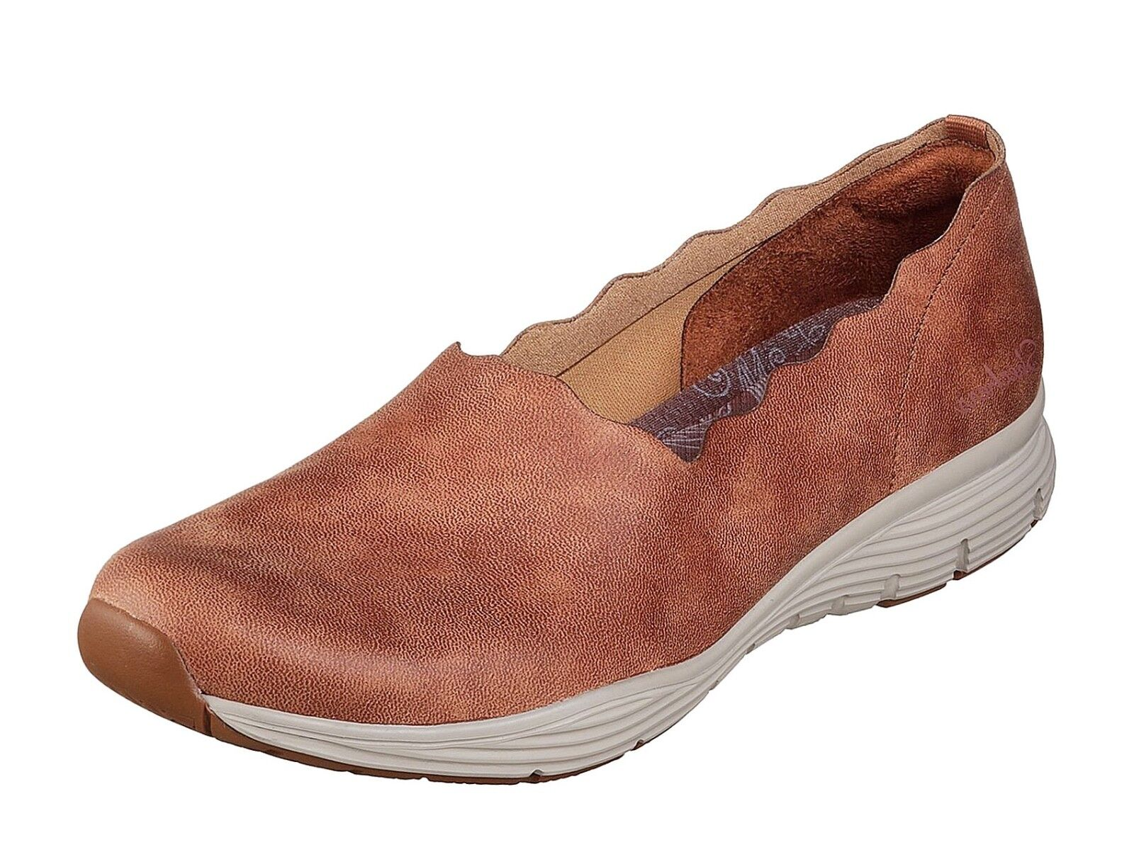 Skechers NEW Seager Triple Ripple Chestnut tan memory foam comfort shoes size3-8