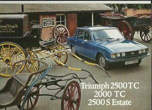 Details about TRIUMPH 2500 TC, 2000 TC AND 2500 S ESTATE SALES BROCHURE  JUNE 1976