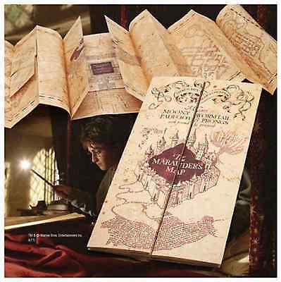 Harry Potter Parchment Marauder's Marauders Map Authentic Noble Replica Hogwarts