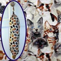 Kitty Cat Plastic Bag Holder / Dispenser For Litter Box
