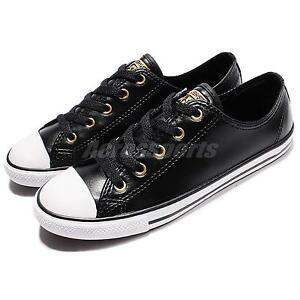 converse all star cuero negro