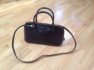 Leather London Bag Brown Stud Bug Croc Polished Grab Ladies immaculate Osprey pa5Wzq5X