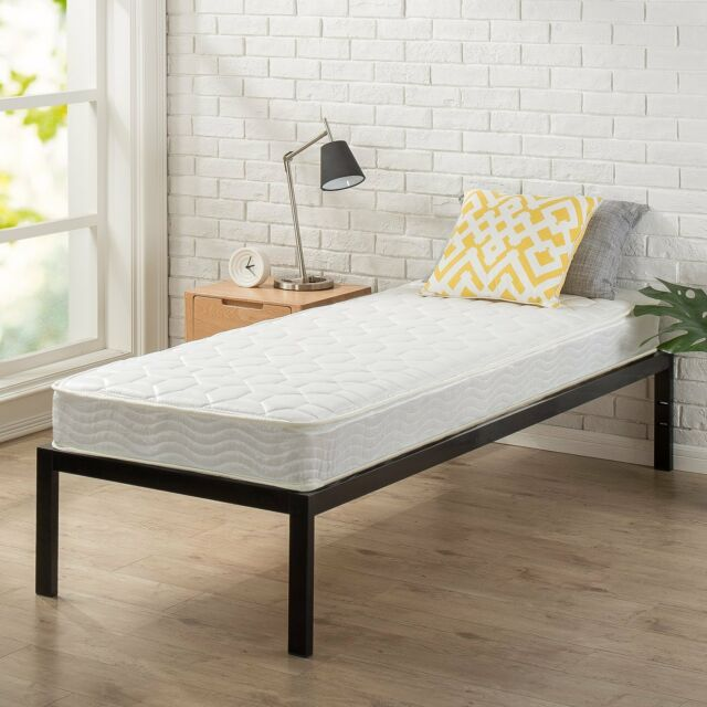 Zinus 6 Inch Spring Mattress Narrow Twin Cot Size RV Bunk Guest Bed ...