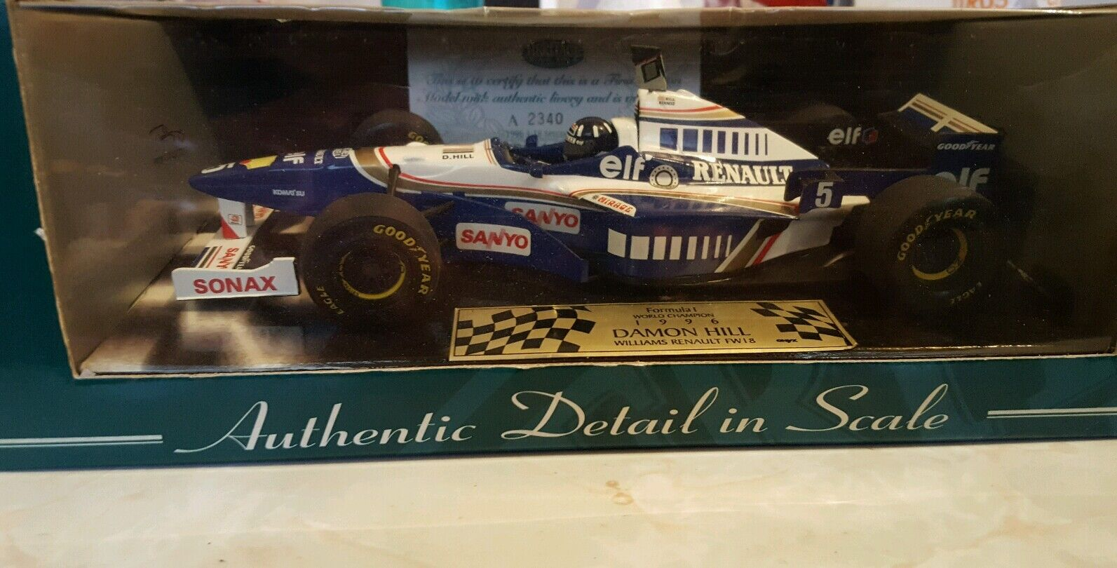 1 18 Williams FW18 1996 Formula 1  World Championship Winner
