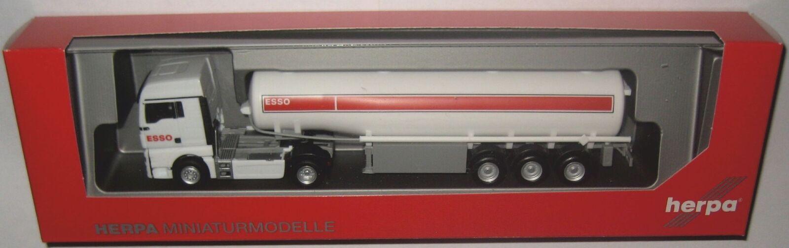 Herpa 309509 MAN TGX XLX Réservoir semi-remorque ESSO 1 87 voie HO