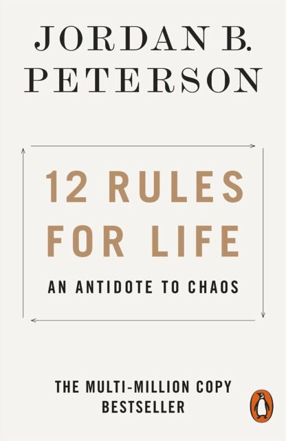 12 Rules for Life: An Antidote to Chaos Jordan Peterson PAPERBACK FREE SHIPPING!
