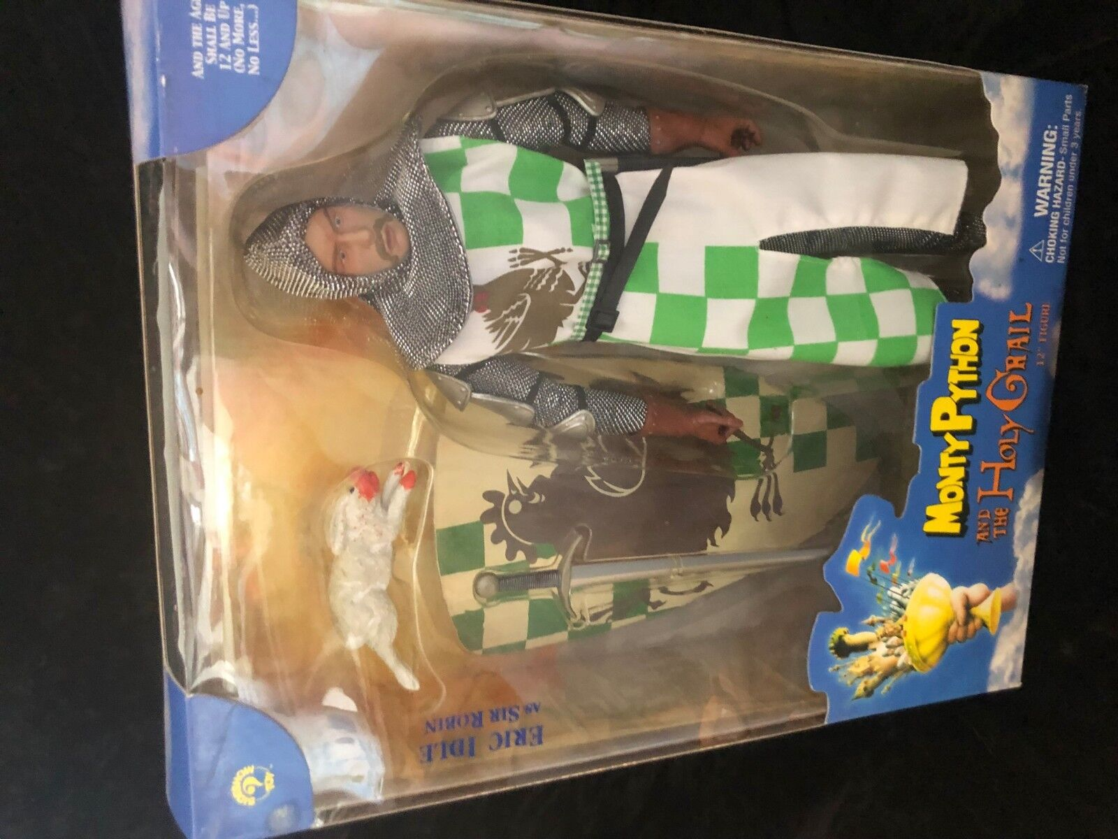 Vintage Monty Python Holy Grail Sir Robin Action Sideshow 1/6th scale 12