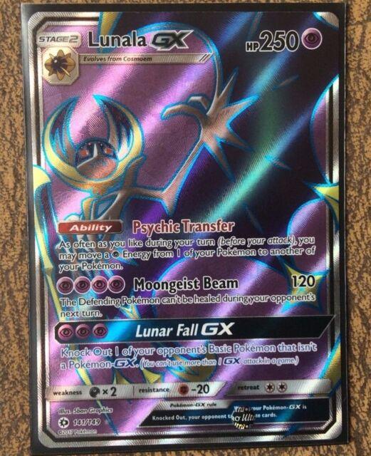 Lunala GX 141//149 Sun /& Moon Ultra Rare Near Mint Pokemon Card Full Art