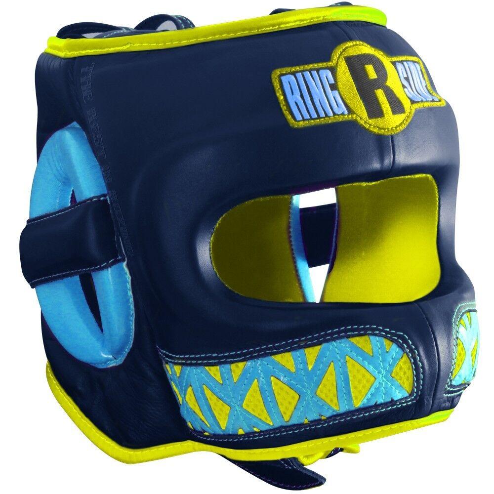 Ringside Boxing Youth Face Saver MMA Sparring Kopfbedeckung - Blau   Gelb