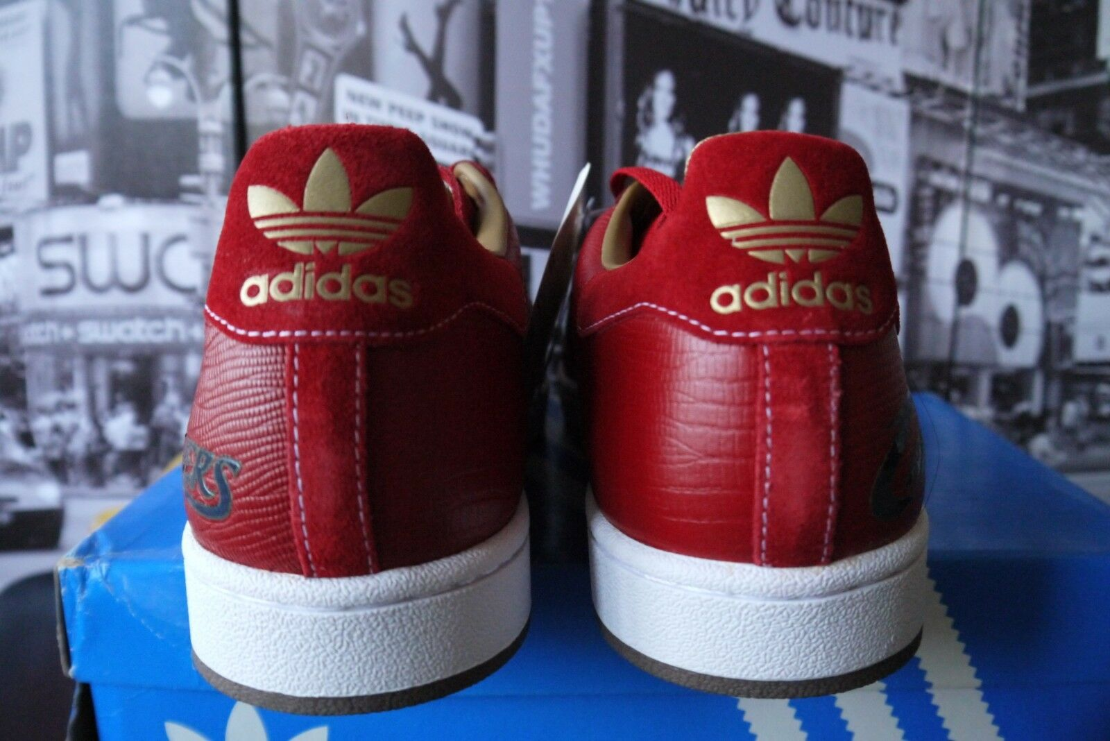 2006 ADIDAS SUPERSTAR 1 NBA CLEVELAND CAVALIERS CAVS Leather RED lizard US 12