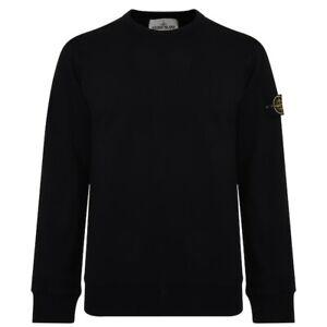 Stone-Island-Badge-Sleeve-Sweatshirt-Black-Small-Brand-New
