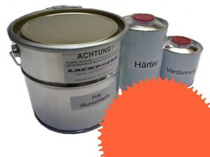 3 Liter Set 2K Floor Color Floor Ral 2003 Vinyl-Epoxid-Lack Lackpoint Shine