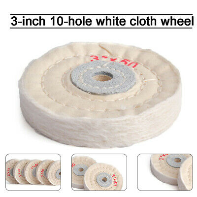 10Pcs 1 Inch Cotton Thread Polishing Wheel Buffing Brush Shank Craft Rotary Tool