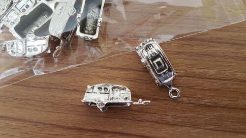 pendants x10 27mm summer trailer B126 UK SELLER Tibetan silver CARAVAN charms