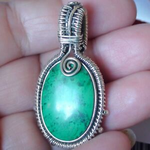 Very rare gem 7365 ct natural gem silica chrysocolla pendant 925 s image is loading very rare gem 73 65 ct natural gem mozeypictures Images