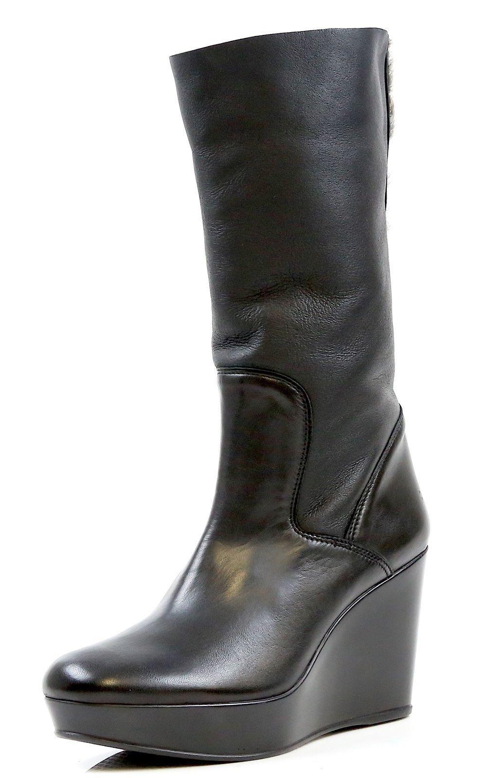 outlet online New New New  Stuart Weitzman 7281 Snowy nero Leather Wedge stivali  KW17521 Dimensione 10B- 475  tutti i prodotti ottengono fino al 34% di sconto