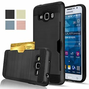 Pour-Samsung-Galaxy-S9-S8-Plus-S7-S6-Bord-S5-Hybride-Carte-Support-Armure-Etui