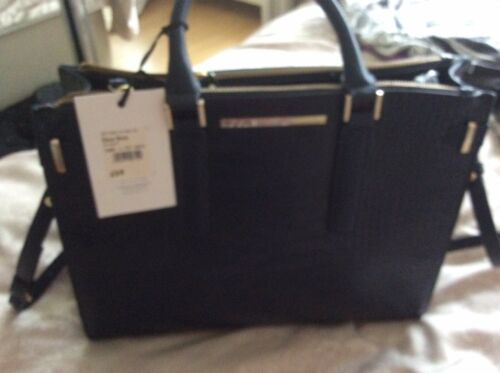 Bag Navy Faux Jasper Pattern Condition Tote Excellent Leather Croc Conran Blue 1UgqCwA