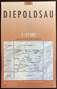 Swisstopo-1-25-000-Diepoldsau-Land-Karte-Landkarte-Jahrgang-2010
