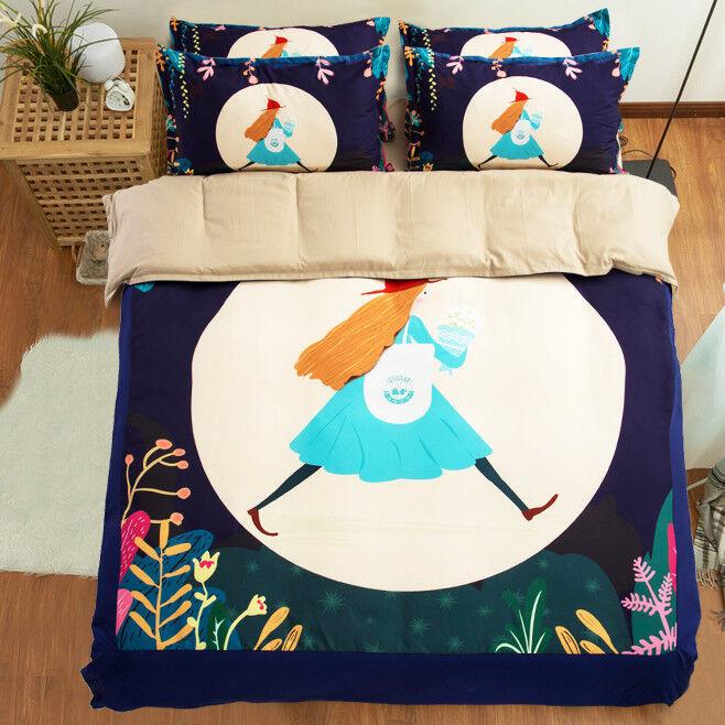 3D Comic Girl 699 Bed Pillowcases Quilt Duvet Cover Set Single Queen King CA