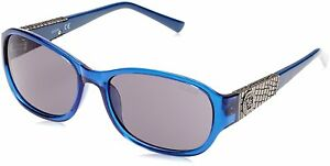 bfbdb575d Guess Womens Sunglasses - GU7425 90A - Shiny Blue w/ Smoke Grey Lens ...