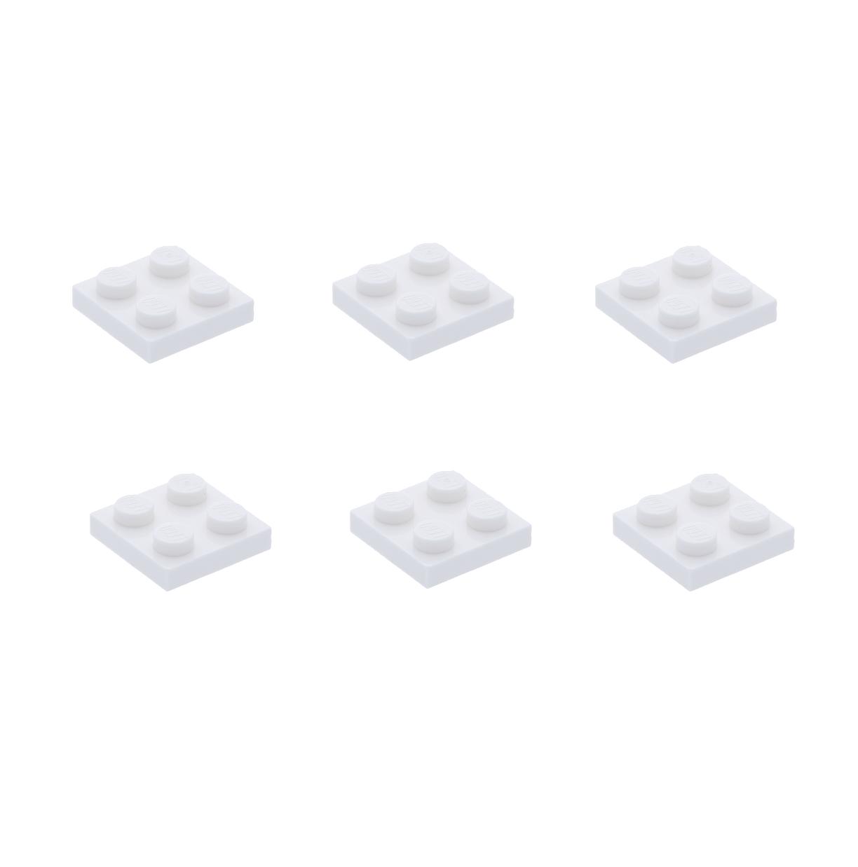 """20X Lego® 3022 Basic Steine Platten 2X2 Weiß 302201 /""""NEU/"""""""