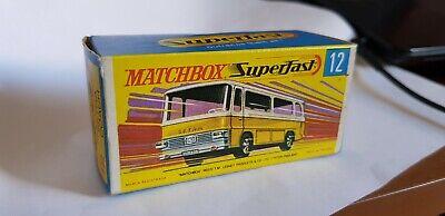 No:12 Matchbox Superfast New Setra Coach Reproduction Box