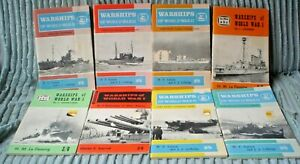 SET OF 8 WARSHIPS BOOKS BOOKLETS SEE PICTURES APPROX 640 PAGES ILLUSTRATED