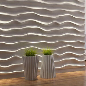 Concrete Stamps, Forms & Mats *wave* 3d Decorative Wall Panels 1 Pcs Abs Plastic Mold For Plaster Light Equipment & Tools