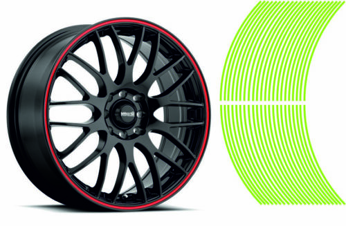 Wheel Striping Stripes Stickers Decals for Motorbike or Car *3mm* L Green