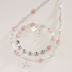 Image Is Loading Personalised Girls Jewellery Set Any Name Childrens
