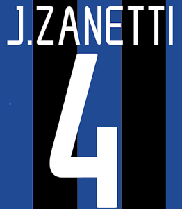 Inter Milan Zanetti Nameset Shirt Soccer Number Letter Heat Print Football H 02