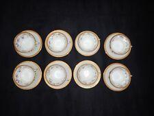 8 tasses et sous tasses  à café en porcelaine Union Porcelainière