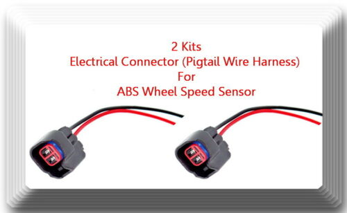 2 x ABS Wheel Speed Sensor W//Connector Front L//R Fits:RAM 1500 2500  3500 RWD