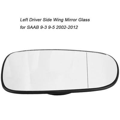 Wing Mirror Glass-Left Side Door Wing Mirror Glass Wide Angle Compatible with SAAB 93 95 2003-2010