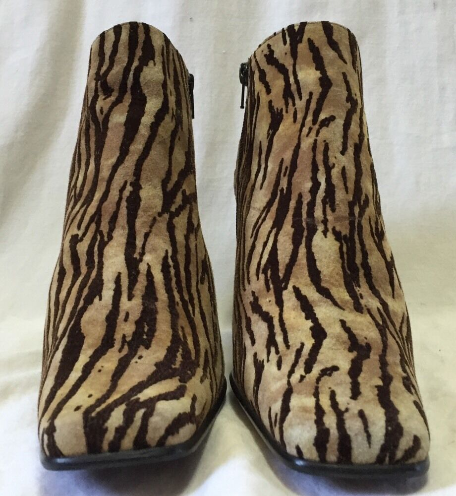 Palizzio Zebra Suede Fabric Booties Ankle Boots W… - image 2