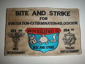 Vietnam-War-US-Army-129th-Assault-Helicopter-Co-BITE-AND-STRIKE-Patch
