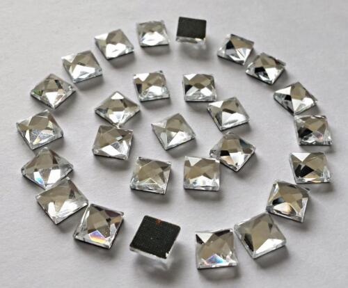 Hot Fix cuadrados de 10 mm de vidrio Shisha Espejo a Pegar 4 D I Y Tarjeta o Tejido 50