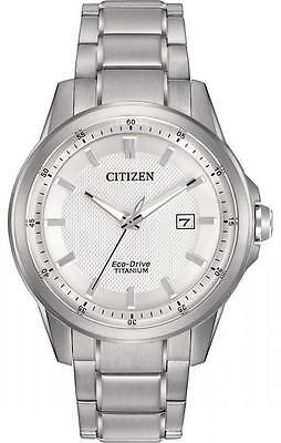 New Citizen AW1490-50A Eco Drive Men's Super Titanium Bracelet Watch