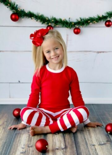 Family Christmas Pajamas--Red and White Stripe or Red and Black Buffalo Plaid