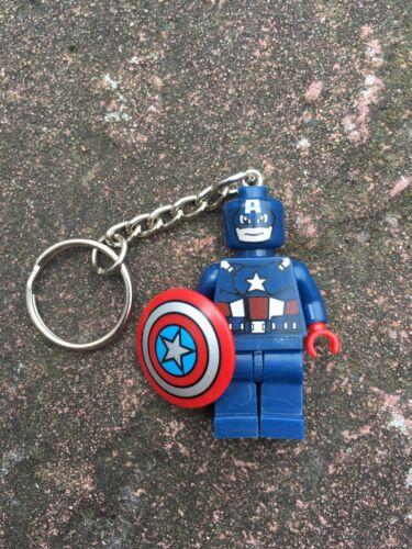 Captain America Keyring Keychain Minifigure UK SELLER