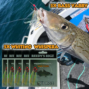 5-whiting-Rig-Paternoster-Sze-4-hook-Fishing-Rigs-Live-Lure-Bait-Flasher-Blood
