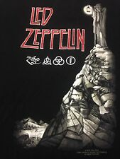 Led Zeppelin Black Large T-shirt Classic Rock Music Page Plant Blues