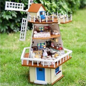 Do-It-Yourself-ARTISANAT-MINIATURE-projet-Kit-en-bois-poupees-MAISON-LE-MOULIN