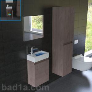 g ste wc waschtisch komplett waschbecken mit unterschrank und spiegel ebay. Black Bedroom Furniture Sets. Home Design Ideas